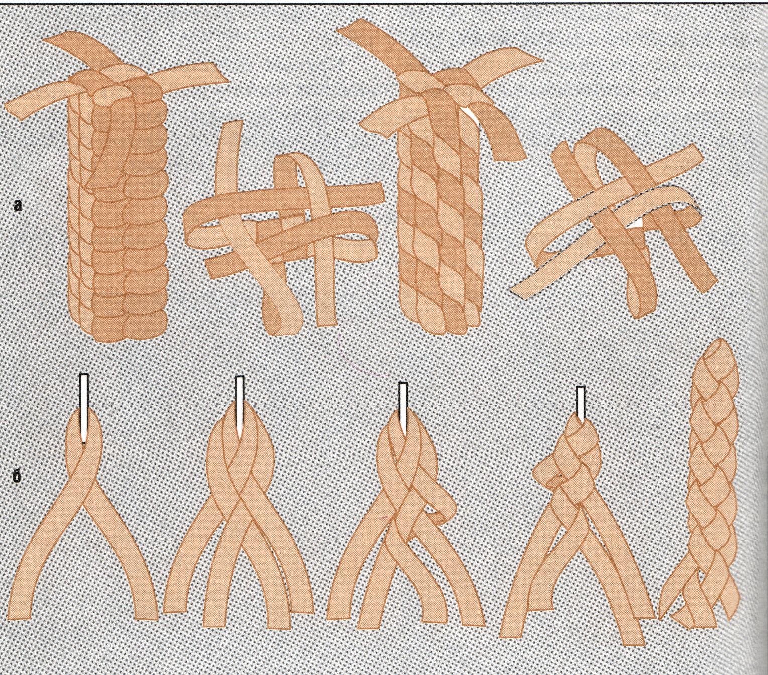 Плетение из одной полоски кожи